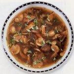 Суп грибной с черносливом
